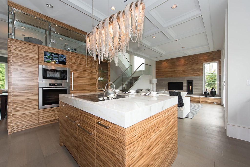 Wood veneer contemporary kitchen